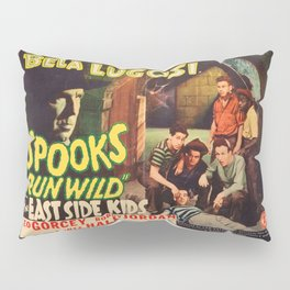 Spooks Run Wild, Bela Lugosi, vintage movie poster Pillow Sham