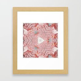 Red and white abstract digital background Framed Art Print