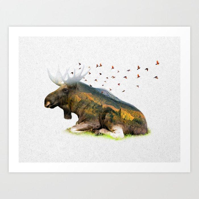 Wild I Shall Stay | Moose Art Print