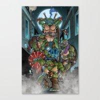 teenage mutant ninja turtles Canvas Prints featuring Ninja Time! by Mercenary Art Studio