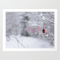 angels Art Prints featuring Angels by SUNLIGHT STUDIOS  Monika Strigel