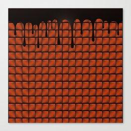 Dripping Chocolate Bar Canvas Print