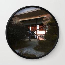 Kyoto Imperial Palace Shadows Wall Clock