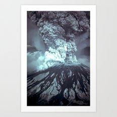 Eruption at Mount St Helens Art Print