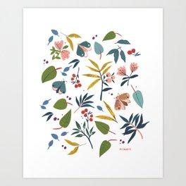 Moth Garden Art Print