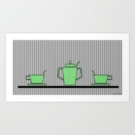Tea set Art Print