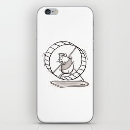 SPINNING YOUR HAMSTER WHEELS iPhone Skin