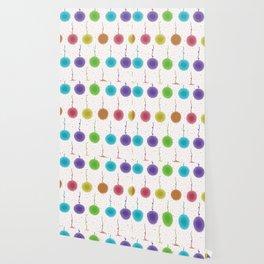 Colorful pom pom seamless pattern  Hand drawn decorative elements craft Wallpaper