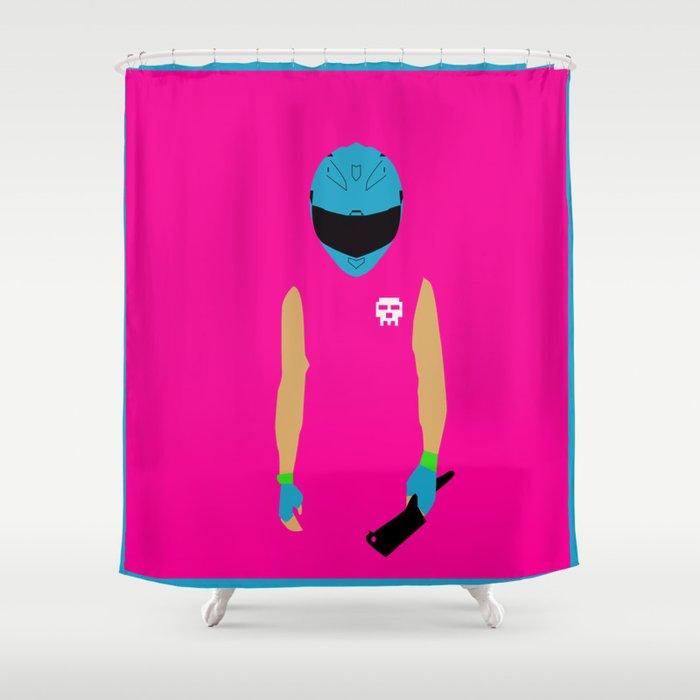 Ou Shower Curtain Part - 30: Hotline Miami: Biker Shower Curtain
