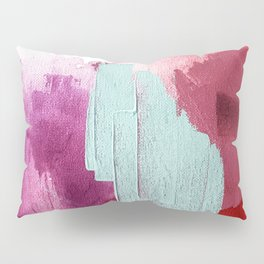 Desert Daydreams [3]: a colorful abstract mixed media piece in purple blue pinks and orange Pillow Sham