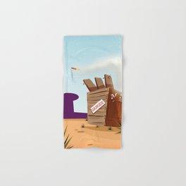 acme rocket crate Hand & Bath Towel