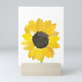 Watercolor Sunflower Mini Art Print