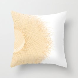 Summer sea straw hat modern contemporary art illustration Throw Pillow
