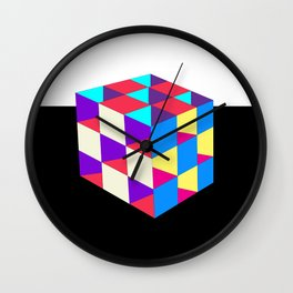 3D Cube of the Dimensionally Sound Wall Clock