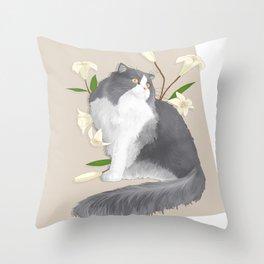 Cat Som Throw Pillow