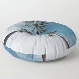 Palm Tree Summer Fun Floor Pillow