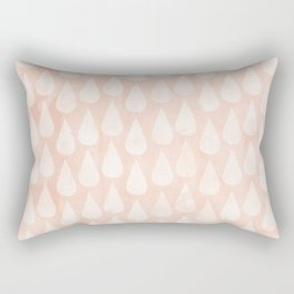 Big Drops Blush Coral Rectangular Pillow