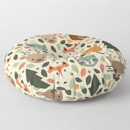 Woodland Creatures Floor Pillow