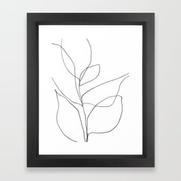 Minimalist Line Art Plant Drawing Framed Art Print