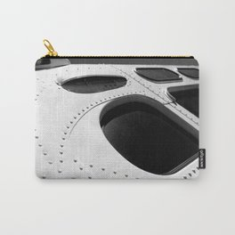 VINTAGE - Cool Vintage Passenger Bus - Monochrome Carry-All Pouch