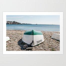 Green Bottom - Cadaques, Catalunya Art Print