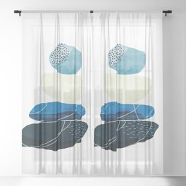 Pebbles & wire Sheer Curtain
