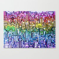 hong kong Canvas Prints featuring Hong kong by 2tehmax