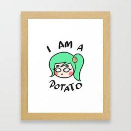 Potato Couple (Female) Framed Art Print