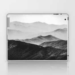 Glimpse - Black and White Mountains Landscape Nature Photography Laptop & iPad Skin