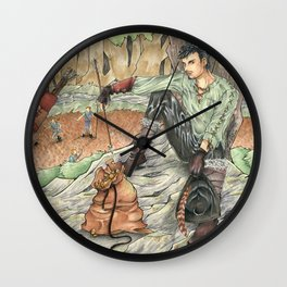 A Magpie`s Loot Wall Clock