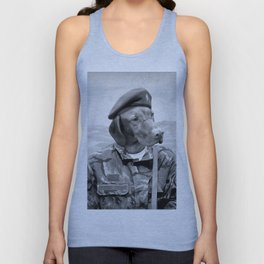 Dog Army Soldier Unisex Tank Top