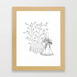 Lady of the Well Framed Art Print