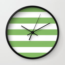 Dollar bill -  solid color - white stripes pattern Wall Clock