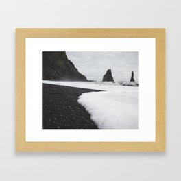 Lava Pillars at Black Sand Beach Framed Art Print