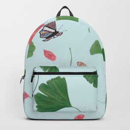 Gingkgo Biloba, Feather, Butterfly and Dragonfly Backpack