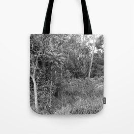 The Forest in Monochrome Tote Bag