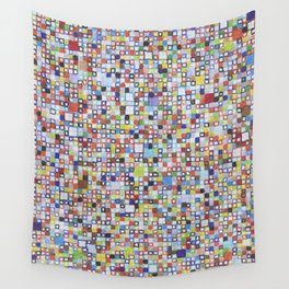 Square Outlines Wall Tapestry