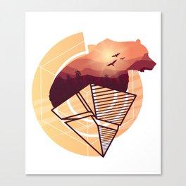 Bear Design Canvas Print