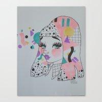 mod Canvas Prints featuring Mod by squidvishuss