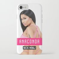 anaconda iPhone & iPod Cases featuring Anaconda by AllMaraj