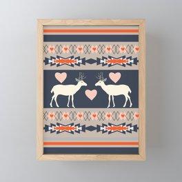 Romantic deer Framed Mini Art Print