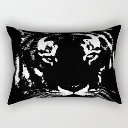 Black n white tiger Rectangular Pillow