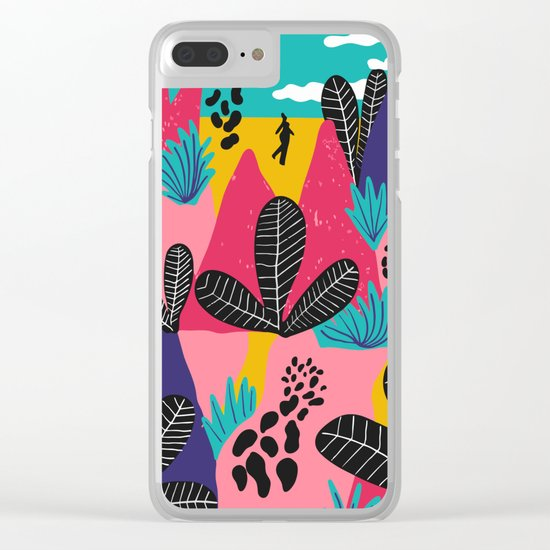 Colorful Forest Clear iPhone Case