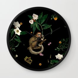 Monkey World: Amber-Ella Wall Clock