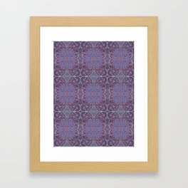 """Lavender lotus"" floral arabesque pattern Framed Art Print"