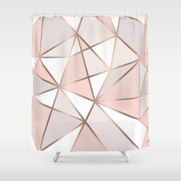Rose Gold Perseverance Shower Curtain