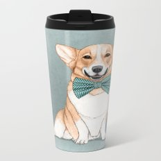 Corgi Dog Metal Travel Mug