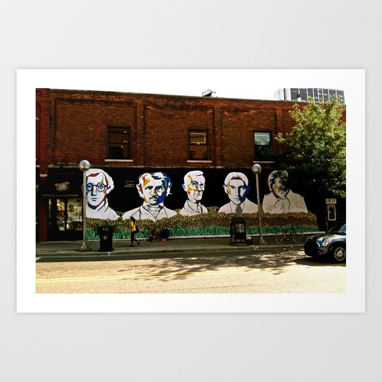 Wall of Faces  Art Print