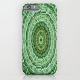 Green Stripes Kaleidoscope 11 iPhone Case