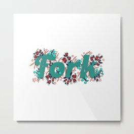 Fork Metal Print
